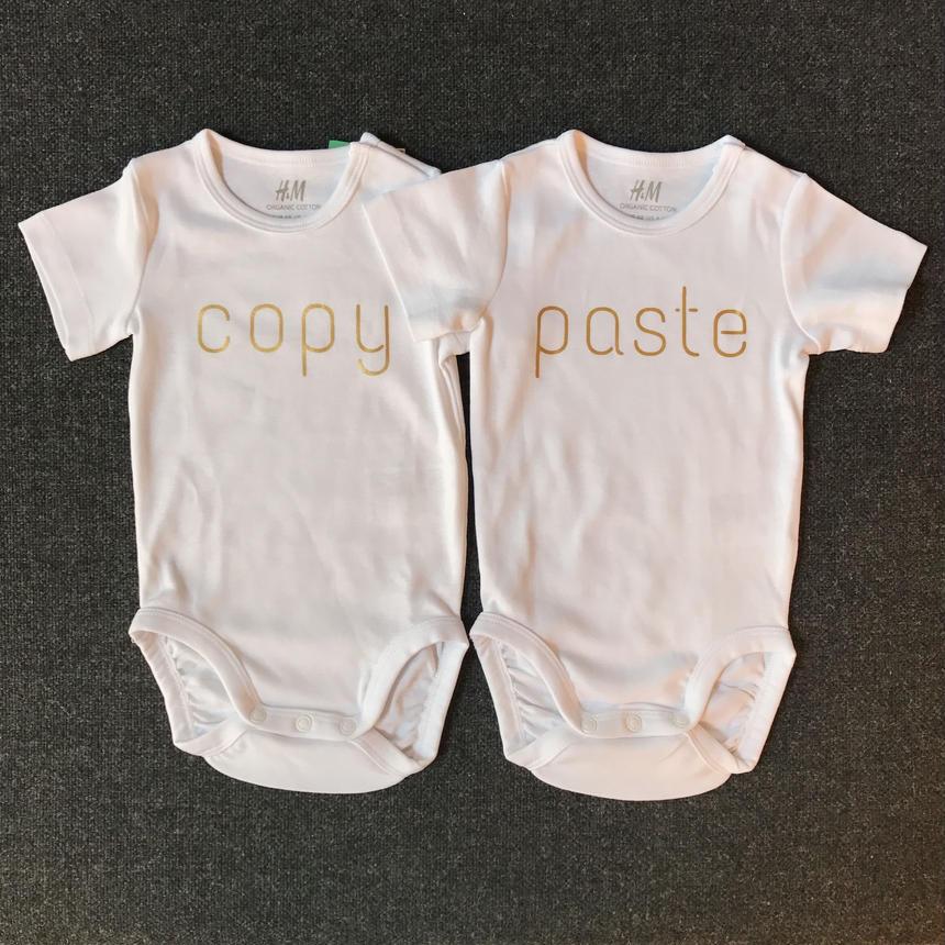 双子用ロンパース2枚組(copy&paste)