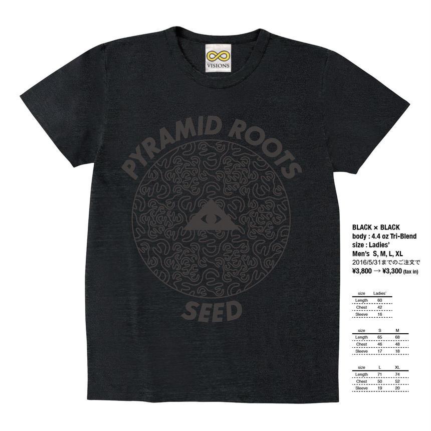 """PYRAMID ROOTS """"SEED"""" / BLACK × BLACK"""