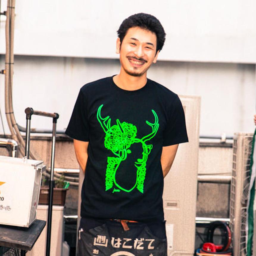 【JAM鹿T-shirt 黒×緑】