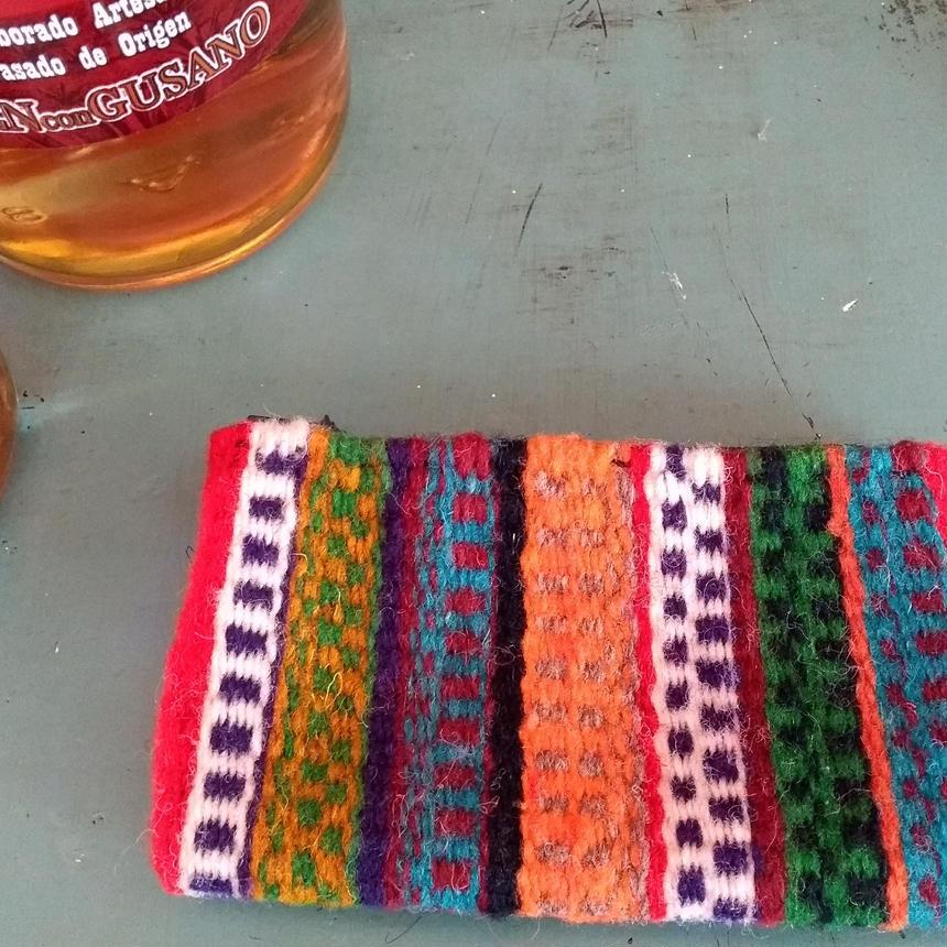 メキシコ手織りラナポーチ 豊かさのシンボル