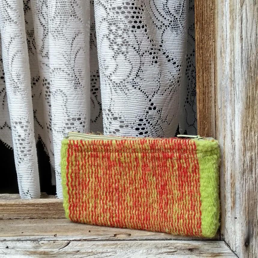メキシコ手織りラナポーチ mil rayas verdes