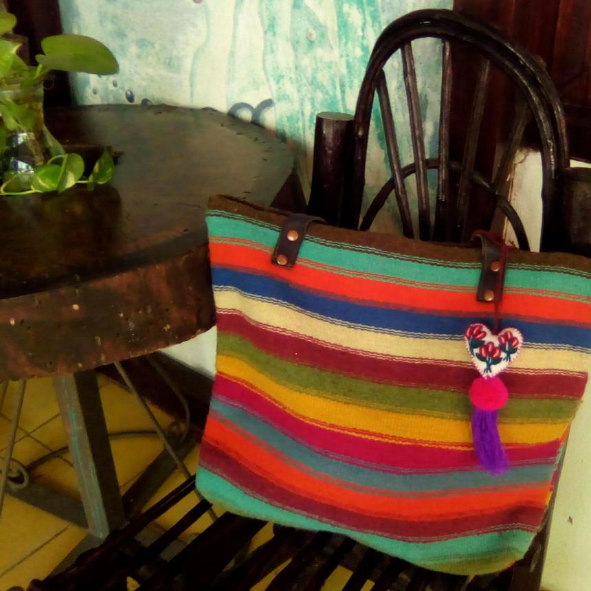 メキシコ手織りラナバッグ arco iris