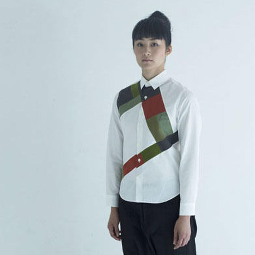 Mondrian Composition Patchwaork Shirt.(Ladies' SIZE:1)