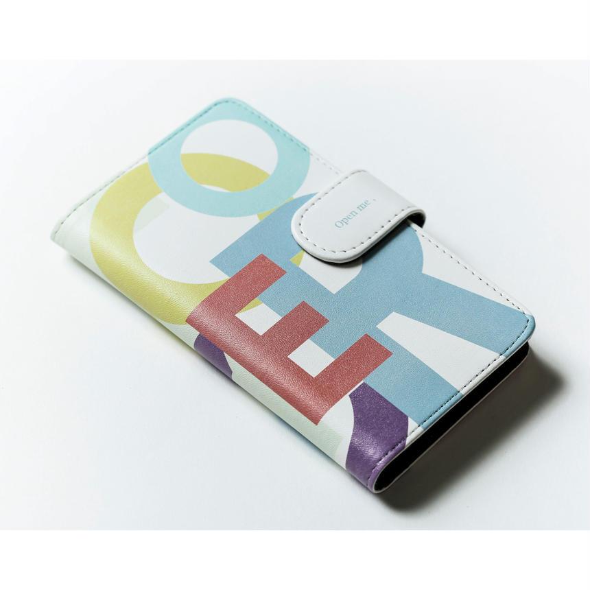 スライド式 手帳型携帯ケース