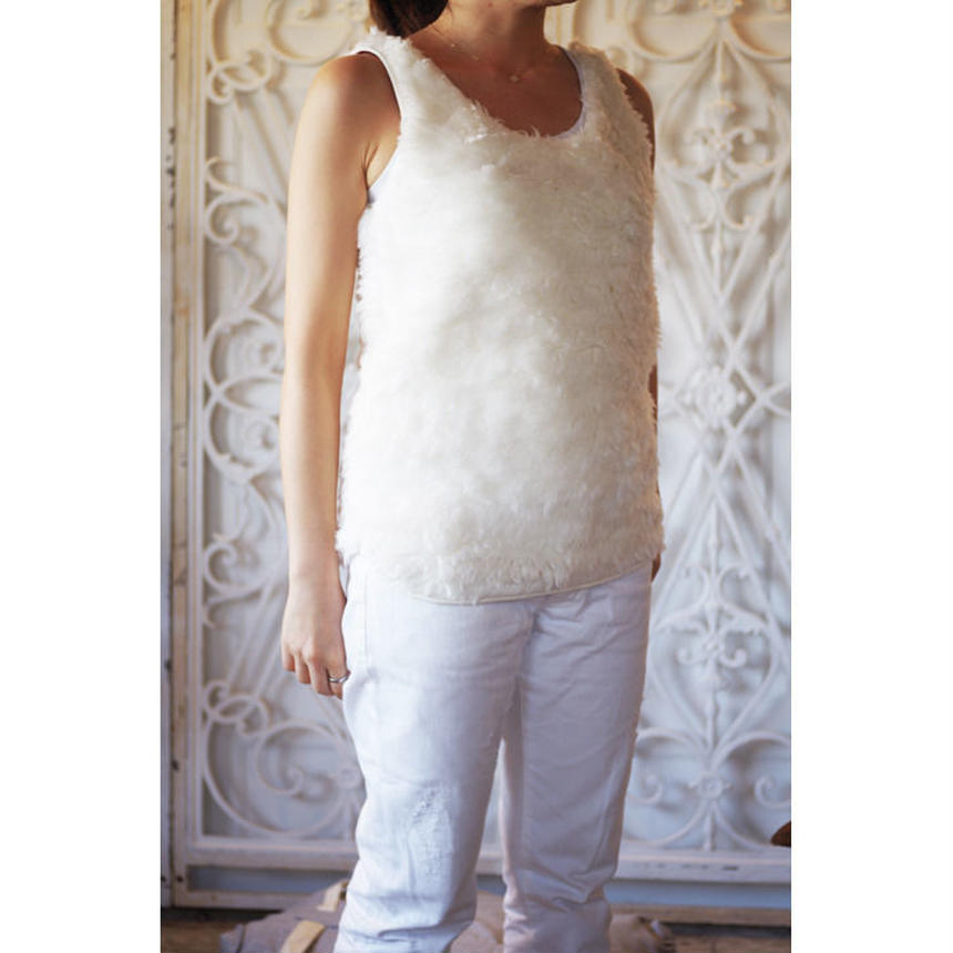 ORGANIC COTTON LONG FUR TANK TOP