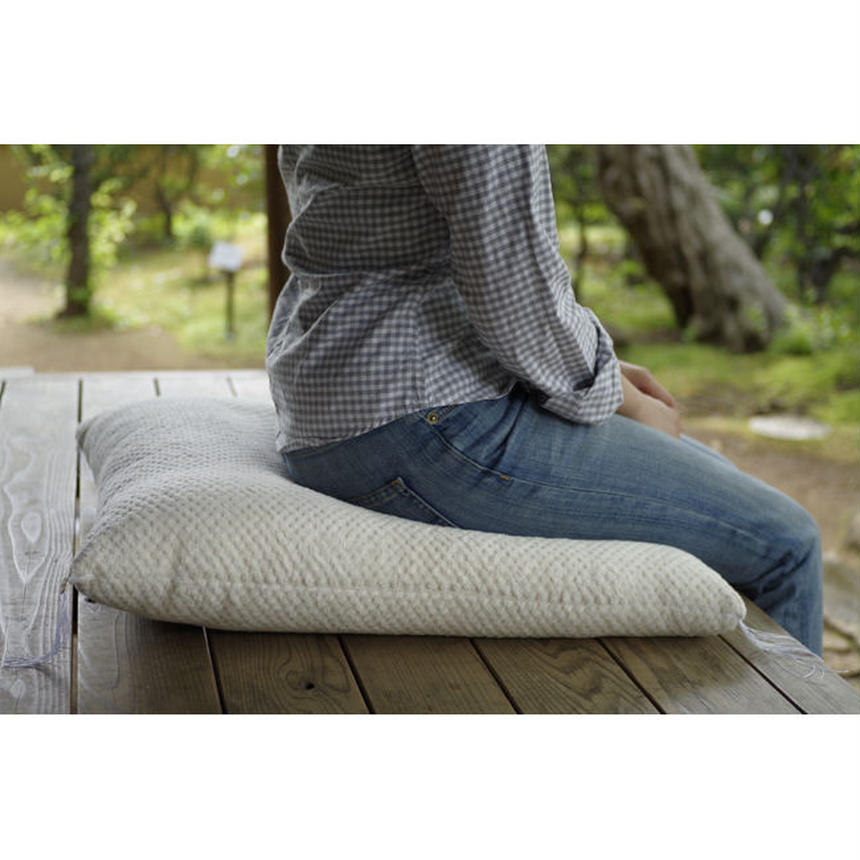 JAPANESE FLOOR CUSHION (L)-ORGANIC COTTON PILE