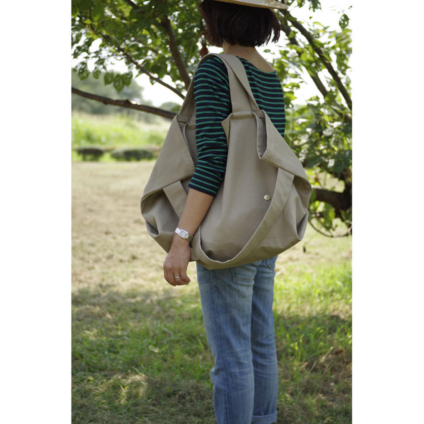 LAUNDRY TOTE BAG-COTTON CANVAS (KHAKI)