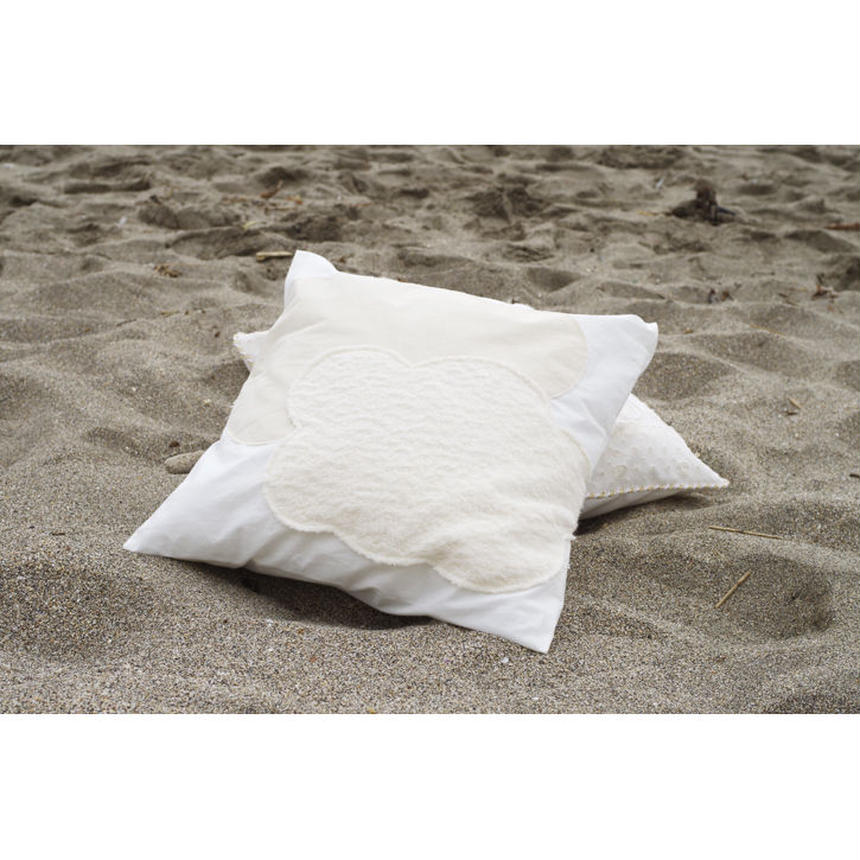 PATCH WORK CUSHION COVER(SQUAE)-HIGH DENSE COTTON POPLIN+BRUSHED PILE