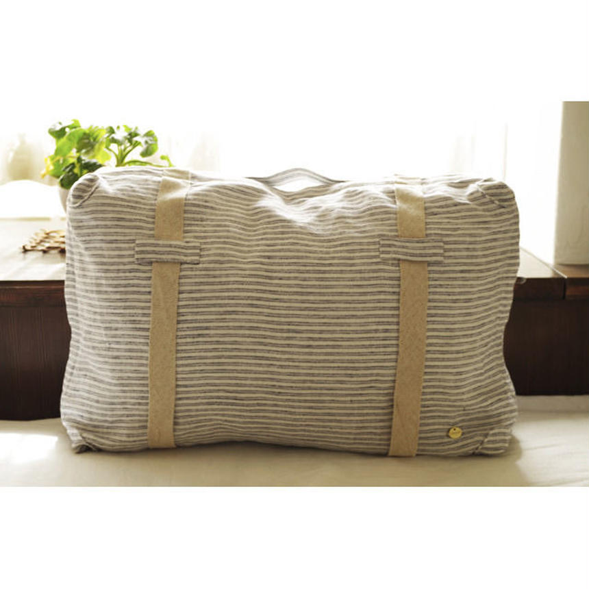 TRUNK FLOOR CUSHION-LITHUANIA LINEN STRIPE