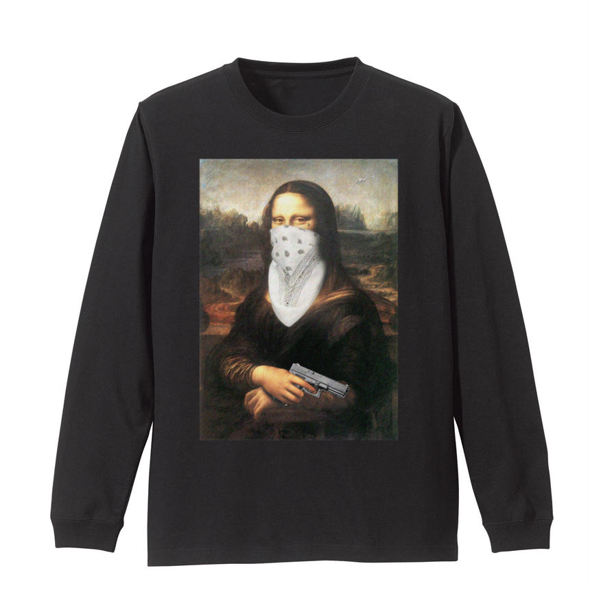 GANGSTA Mona Lisa LS T shirts / UNOFFICIAL