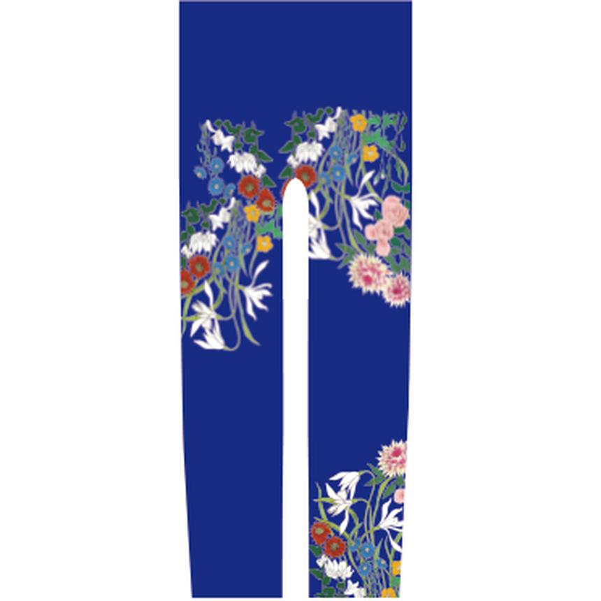 花 キッズレギンス 瑠璃紺色   120cm