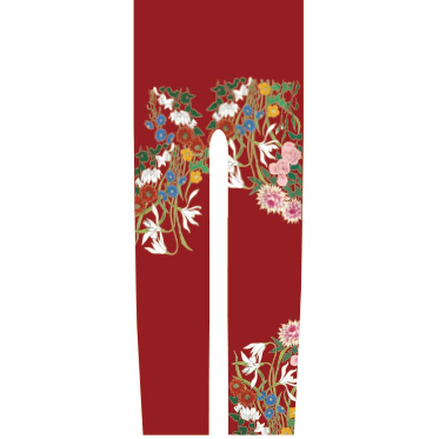 花 キッズレギンス 紅葉色   120cm