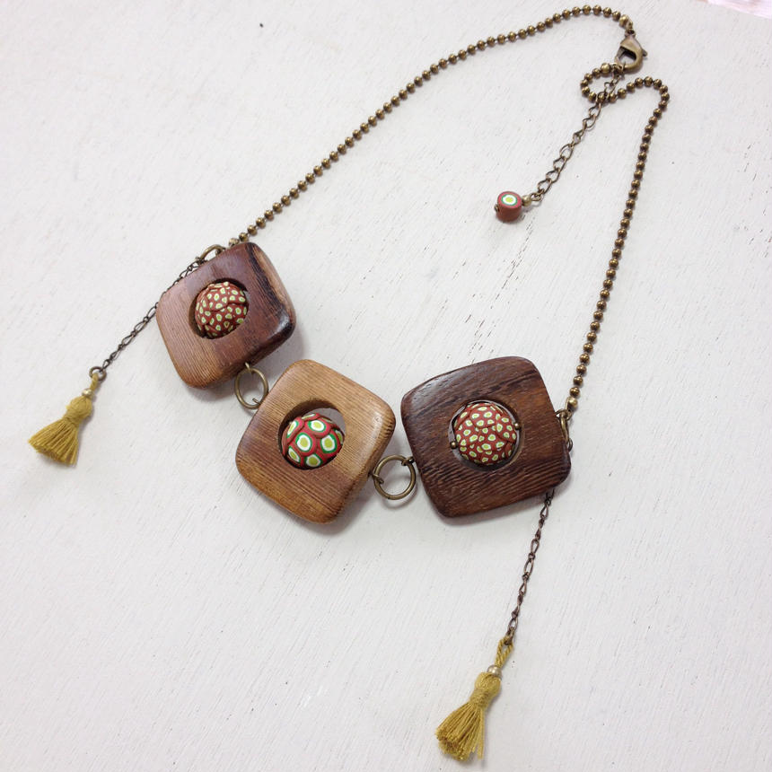 +bois  3ネックレス brown