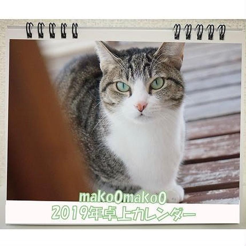 残りわずか【送料無料】2019年  mako0mako0 卓上カレンダー