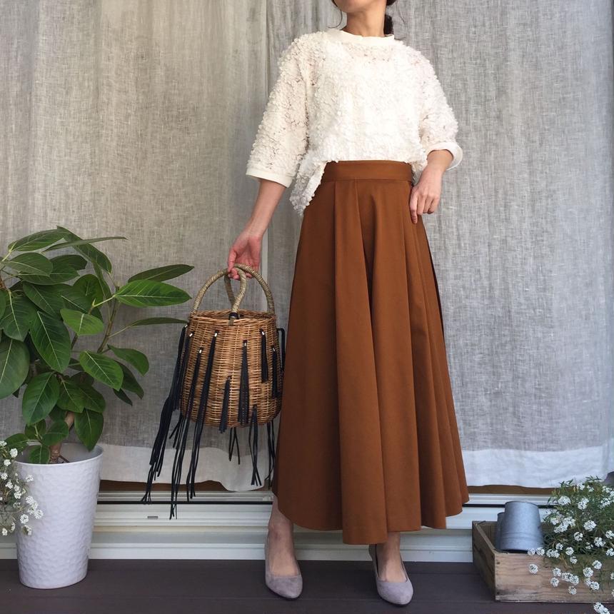 Julia(チノロングラップスカート):チェスナット