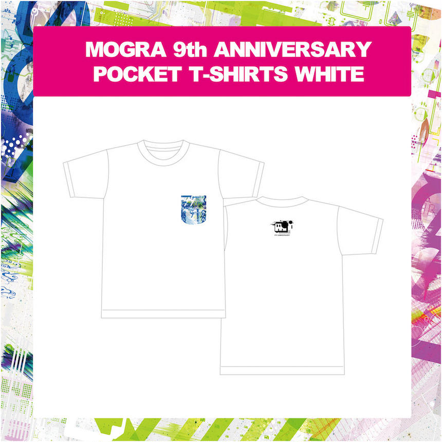 MOGRA 9th ANNIVERSARY POCKET T-SHIRTS (WHITE)