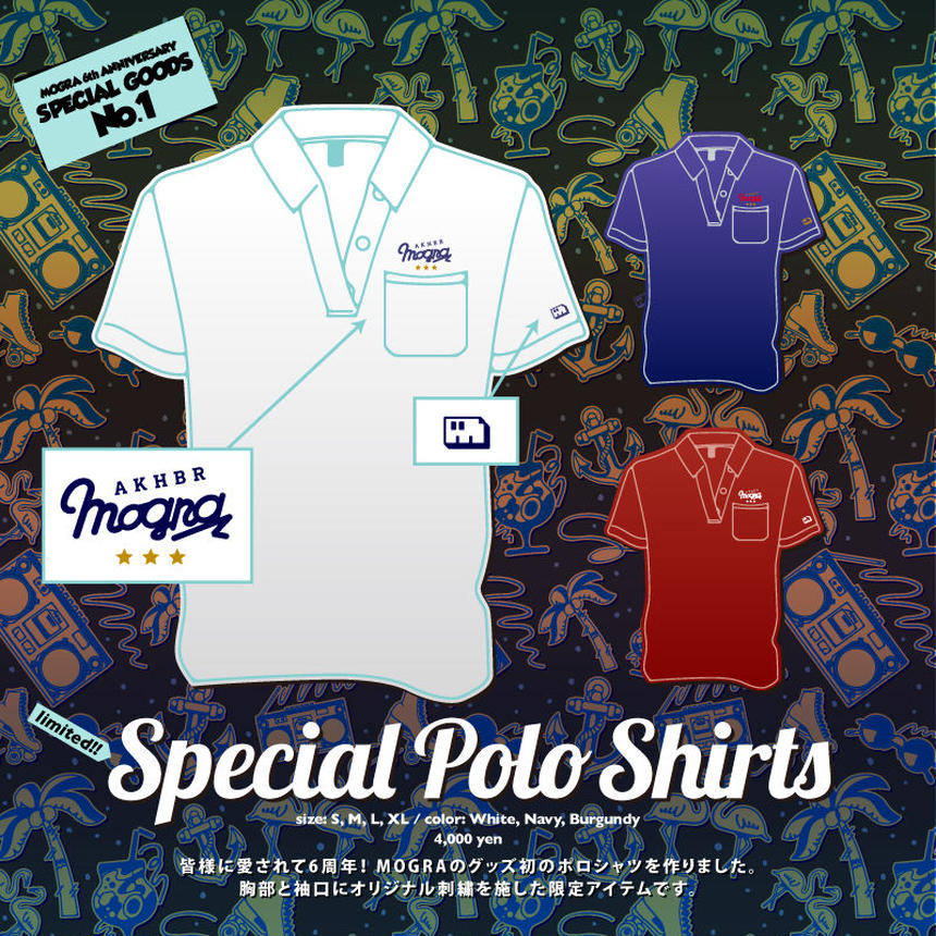 MOGRA 6th Anniv. Special Polo Shirts