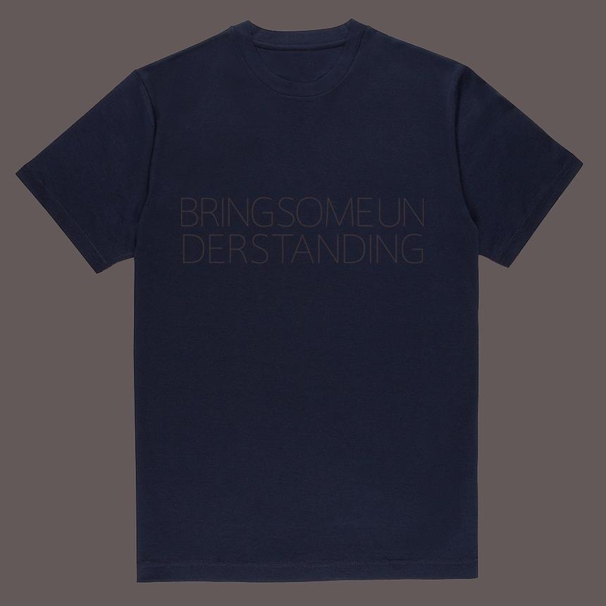 MG_W navy  Cotton T-shirt