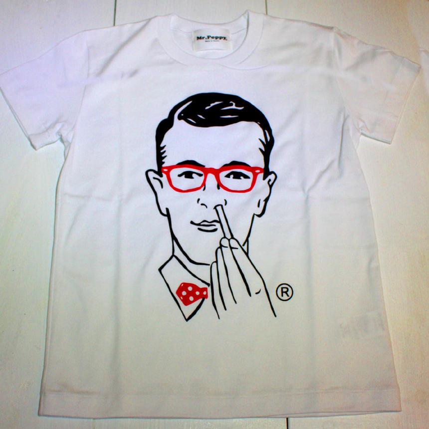 Mr.Poppy T-Shirts MADE in TOKYO WH/BK /RED