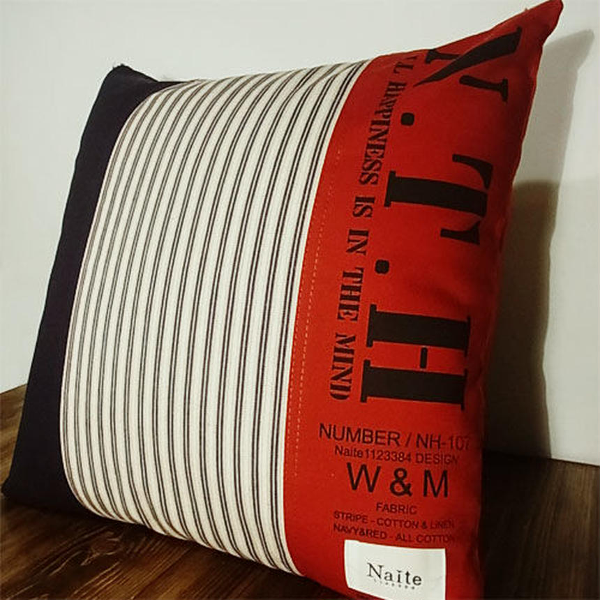 Tricolor cushion / メンズ クッション Made in JAPAN 送料無料