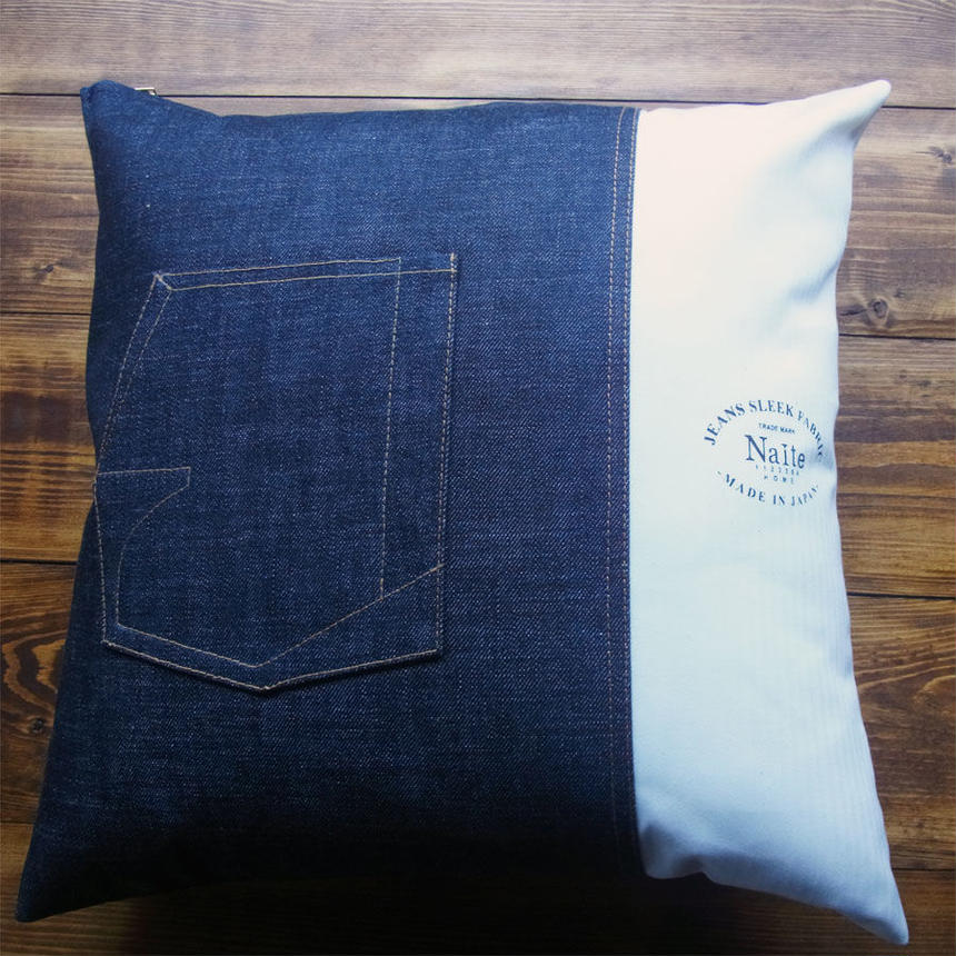Denim x Sleek cushion / デニム メンズクッション Made in JAPAN 送料無料