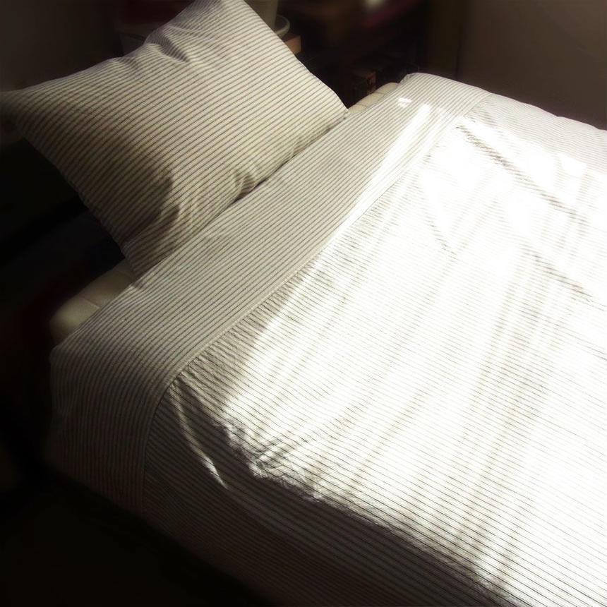 Stripe duvet cover and pillowcase / メンズ布団カバーセット ※受注生産商品 Made in JAPAN 送料無料