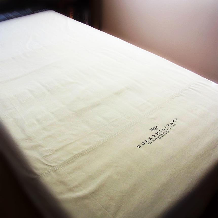 Work flat sheet / メンズフラットシーツ Made in JAPAN 送料無料