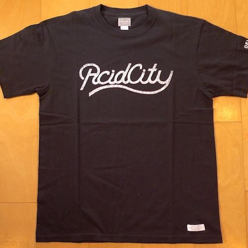 DELUXE x NITELIST ACID CITY Classic Tee Shirts BLK