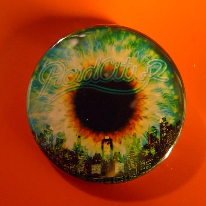 ACID CITY 2 Can Badge Blk
