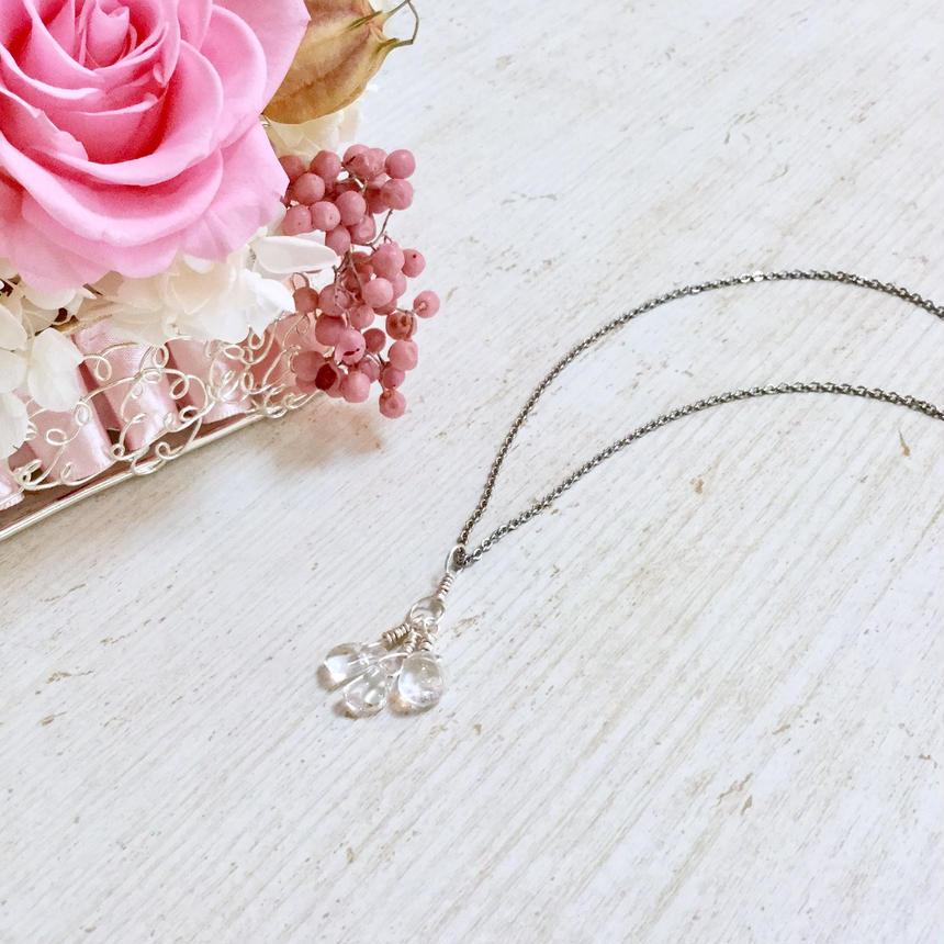 パワーストーン✴︎水晶さざれのネックレス