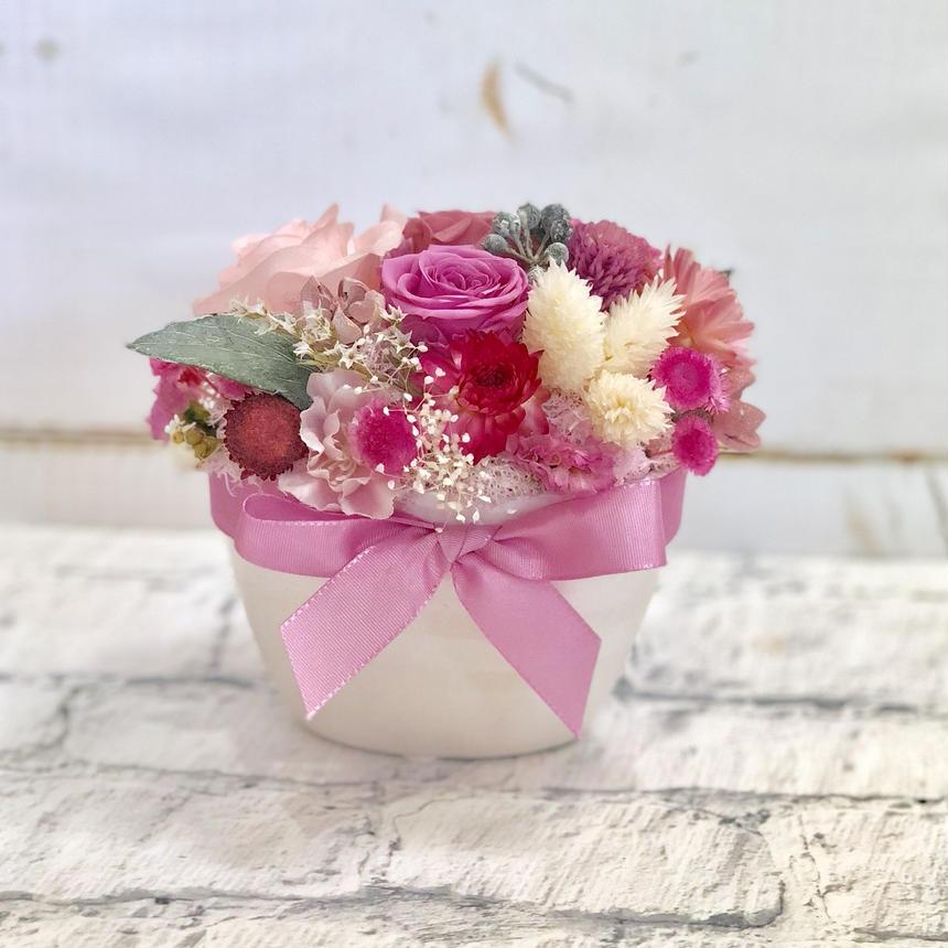 ギフトラッピング無料・プリザーブドフラワー・お花ぎゅっと。