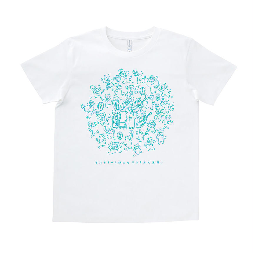 『イヤコラセ東京×にゃんとこコラボ!第36回すみだ錦糸町河内音頭T-shirts』 /WHITE×BLUE
