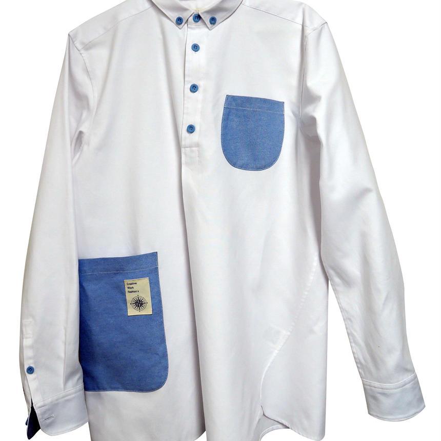 ちょっと ポケット大きめ ホワイトシャツ
