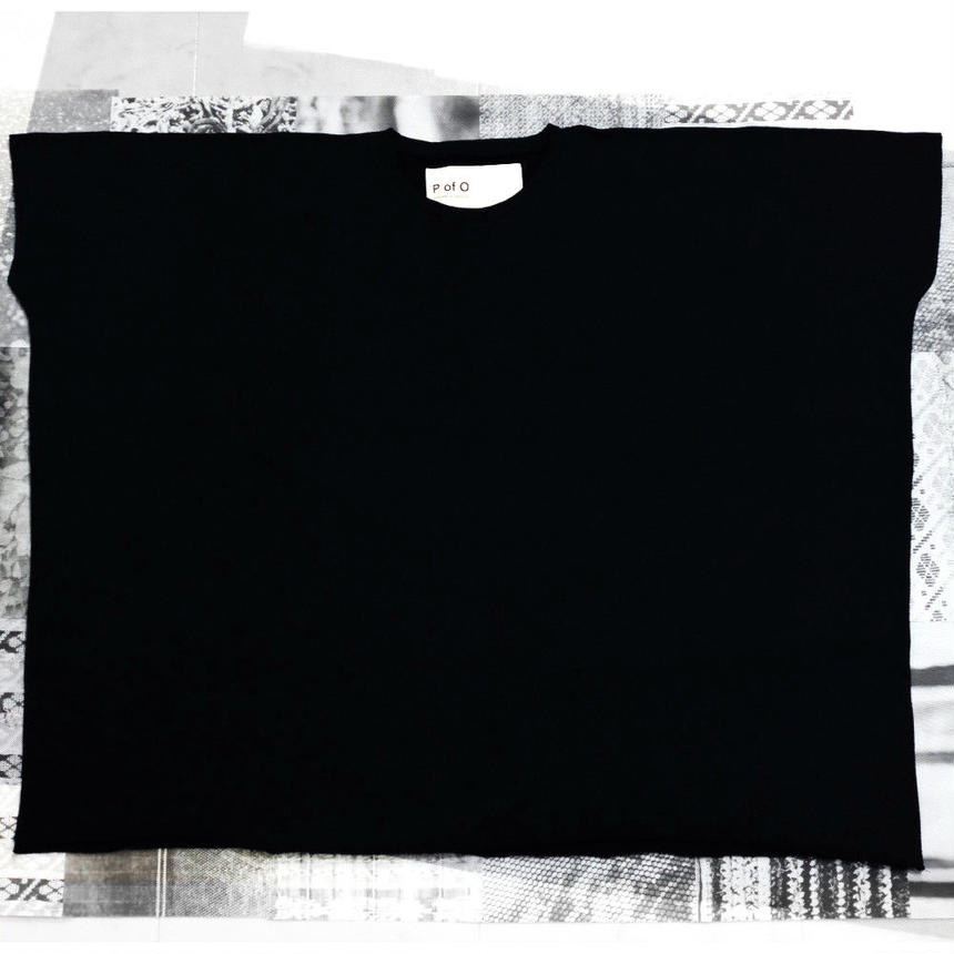 Cut-Off Big Tee (Black)【10001】
