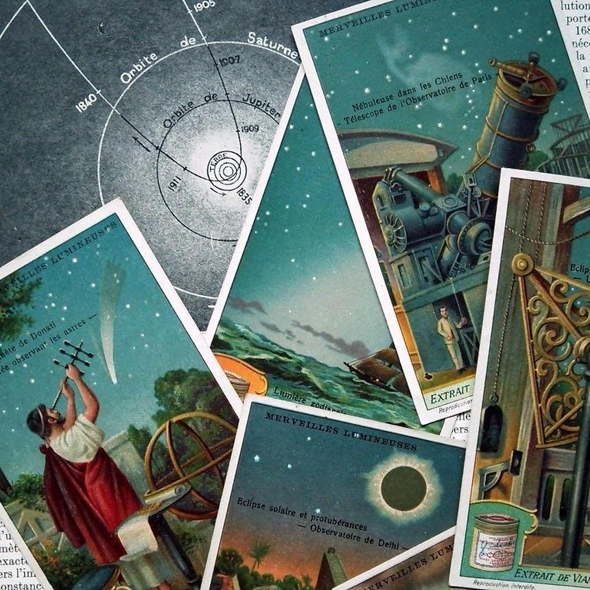 1925年 LIEBIG◆古代の天文学6種アンティーク・ビンテージカード