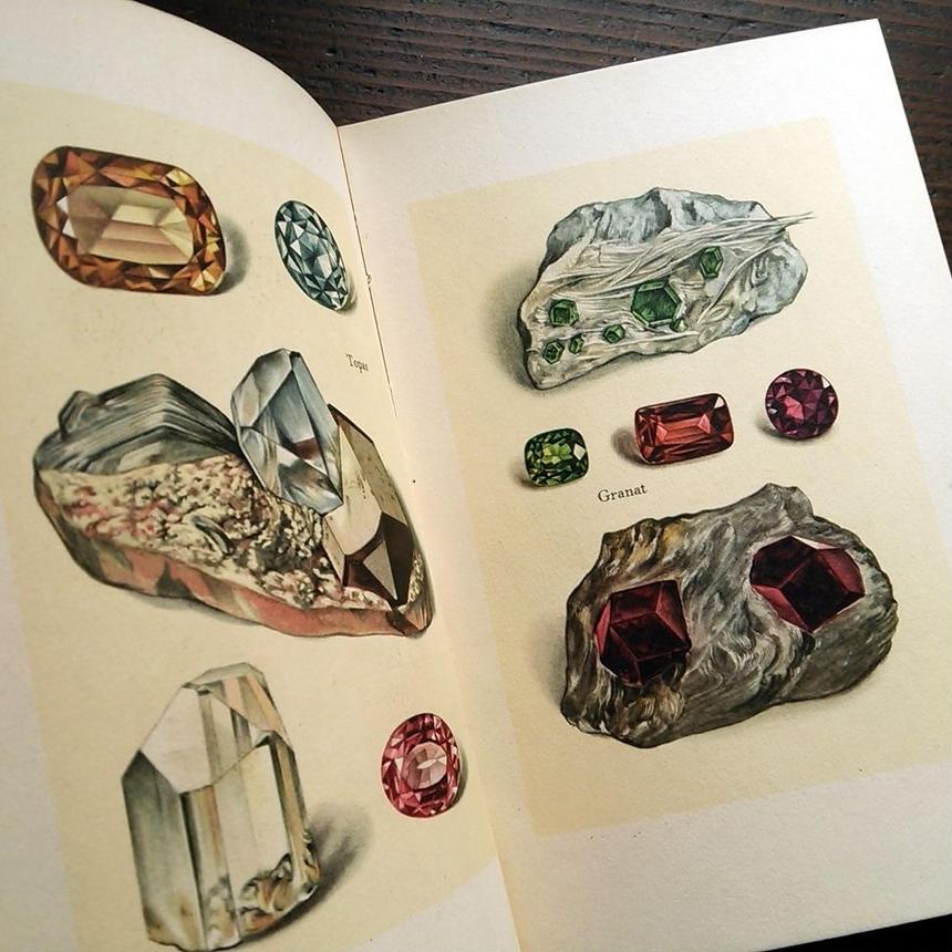 【再入荷】1938年ドイツ インゼル文庫Nr.54<小さな鉱物の本>◆Das Kleine Buch der Edelsteine