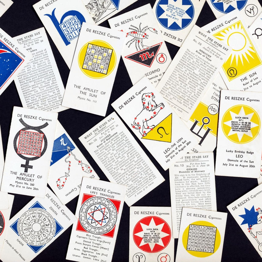 1934年シガレットカード<イギリス>◆星が教えてくれること◆アンティーク・ビンテージ