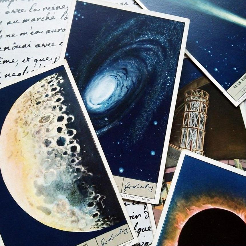 1952年 LIEBIG◆天体観測6種アンティーク・ビンテージカード