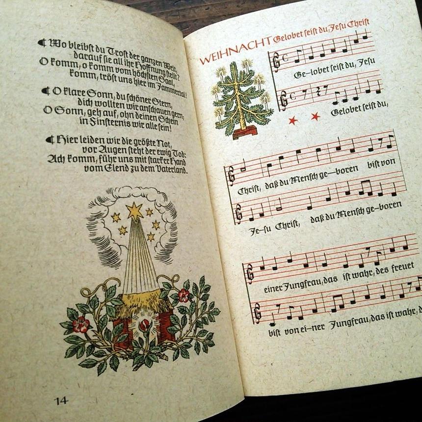 ドイツ インゼル文庫<ドイツのクリスマスソング>◆Deutsche Weihnachtslieder mit Noten und Bildern