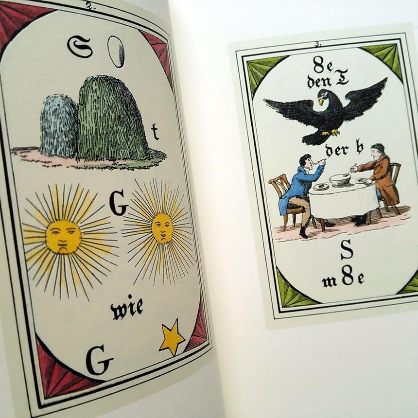 1987年ドイツ インゼル文庫Nr.1033<プレシオサのオラクルカードの本>◆Präciosa's Orakelprüche in sechsunddreißig Rätselbildern
