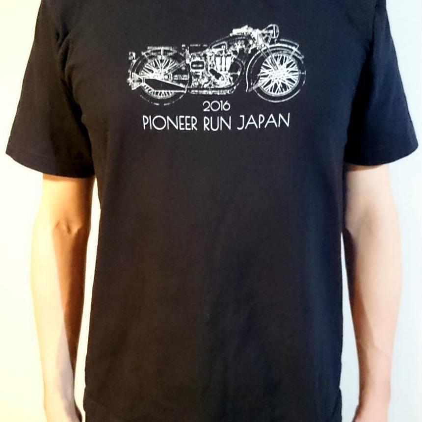 パイオニアランジャパン Tシャツ 黒(S/M受注生産)