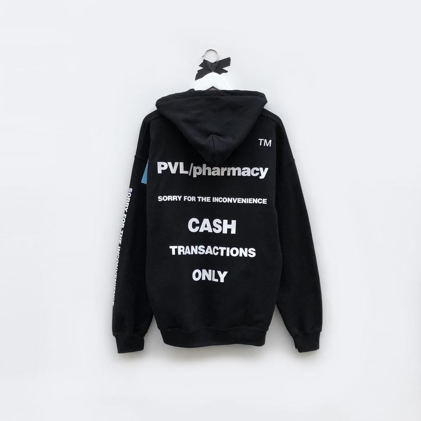CASH ONLY HOODIE (BLACK)