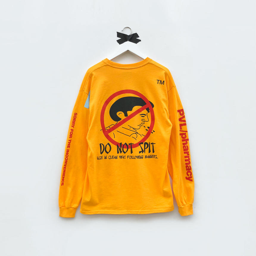 DO NOT SPIT LS T (YELLOW)