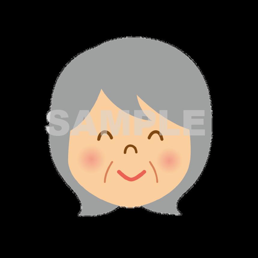 【POP素材】おばあさんのイラスト