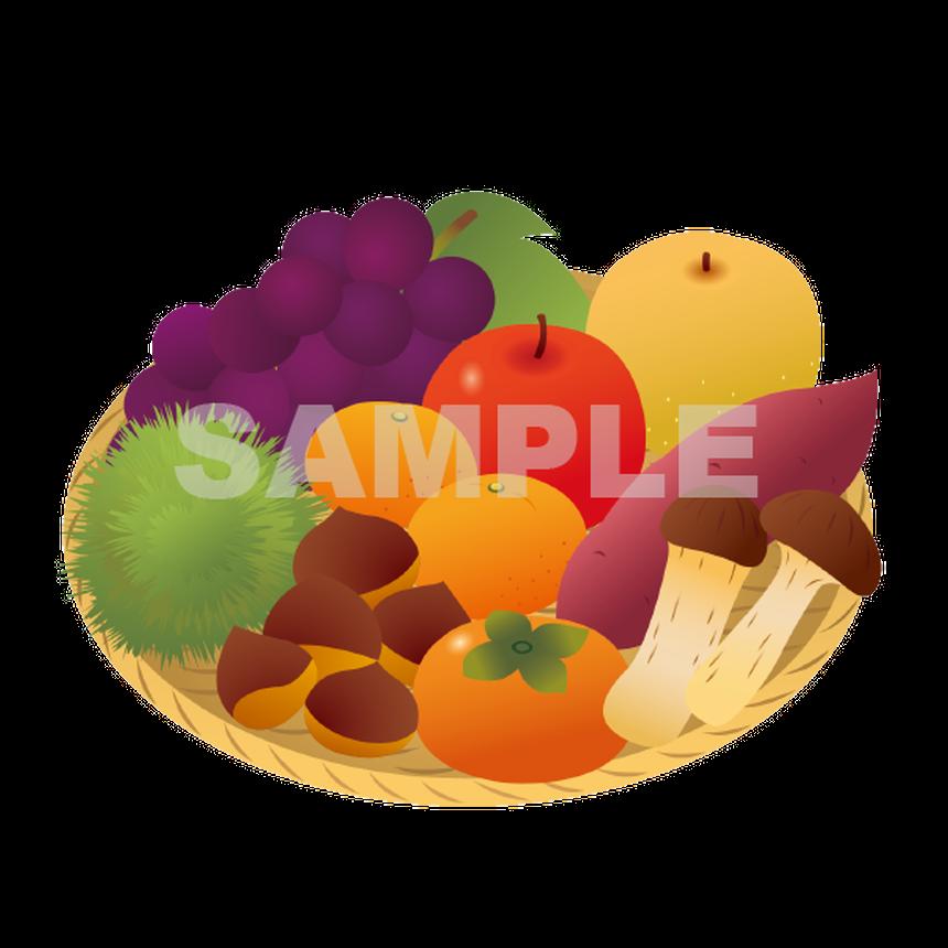 【POP素材】秋の味覚イラスト