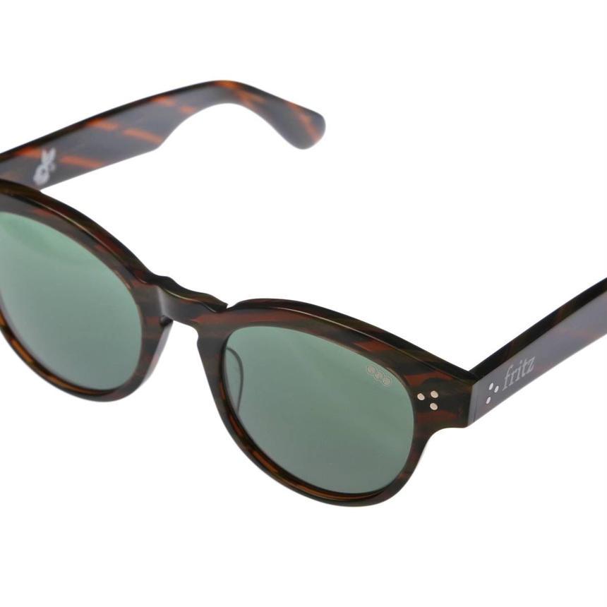 ug.xredi'FRITZ'model col.5 brown green柄frame /G-13lens