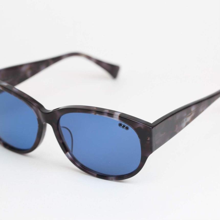 'mango' model black clear 柄 frame/blue lens