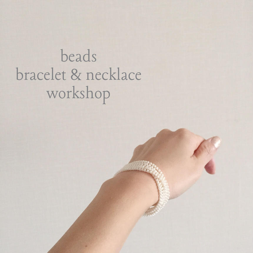 beads bracelet & necklace WORKSHOP KIT