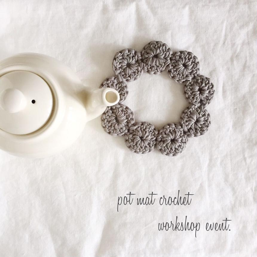Pot mat crochet workshop KIT