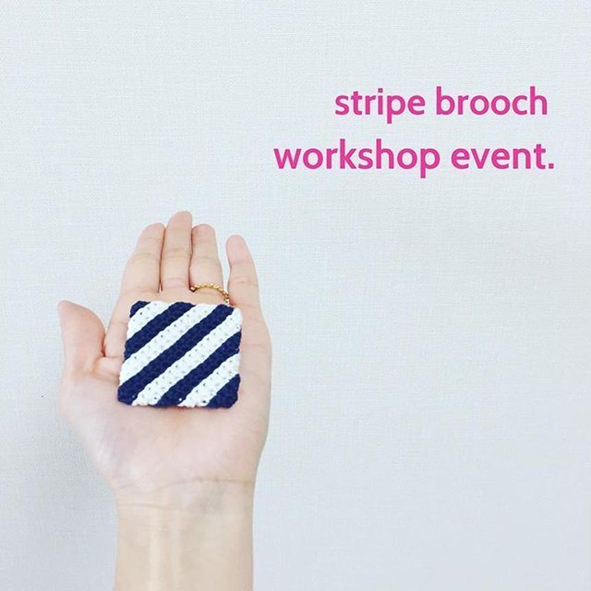 stripe brooch  WS KIT